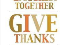 Give 'Thanks'... / Thanksgiving feasts, side dishes, desserts, family, and friends:)
