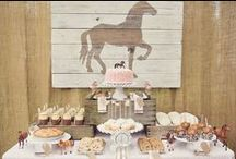 Cowgirl Party Ideas / Great ideas for party cakes, decorations, printables,  food and more!