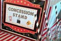 Movie Night Party Ideas / Great ideas for party cakes, decorations, printables,  food and more!