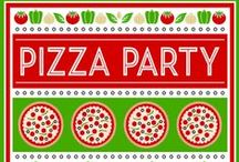 Pizza Party Ideas / Great ideas for party cakes, decorations, printables,  food and more!