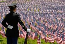 America the Beautiful / Patriotism... Honor... Courage... Brave... Freedom... Thankfulness  / by Leslie Spence