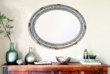 Mosaic Mirrors / Wall Mirrors, Mosaic Mirrors, Glass Mirror, Home Decor, Custom, Handmade by Green Street Mosaics