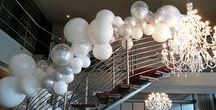 2017 Opulent Decor with flowers, greenery and balloons / 2017 High end event and wedding decor with this years  must have items - Greenery, Flowers and Balloons. Giant balloons, marble balloons, foil balloons, natural color balloons, clear balloons, confetti balloons, opulence, glamour, trend, design and installation.