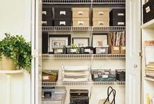 Organisation and Storage Ideas / I wish I were more organised. This is where I pin every cool storage idea that I see. No more hoarding. Let's get organised and declutter!