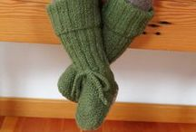 Knitted Booties / Miou Kids knitted and crocheted booties for babies and toddlers