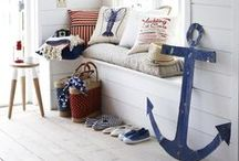 Nautical Beach House / Seaside, nautical and coastal living interior ideas. I recently moved to an island and I am always looking for beach house decor inspiration.