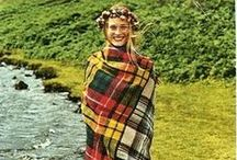 """Mad About Plaid!!! / A plaid is a cloth made with a tartan pattern wrapped around the waist and cast over the shoulder and fastened at the front. The literal Gaelic meaning is """"blanket""""."""
