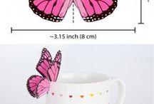 Art - hearts! & butterflies