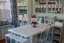 Home - Craft Room (and Office) / Craft Rooms, Craft Room Ideas, Office Organization, Office Ideas