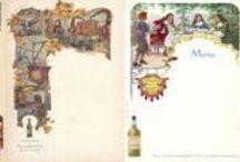 Menus chartreuse / Supports promotionnels très utilisés au siècle dernier notamment pour les produits alcoolisés, les menus publicitaires à l'effigie de la chartreuse sont fort diversifiés, caractéristiques de cette liqueur et à ce titre particulièrement prisés par les collectionneurs.