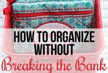 Organizing - On a Budget / All about organizing on a budget including dollar store organizing finds, free homemaking or organizing printables, and more!