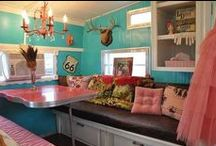 Glamper Renovation & Inspiration / Colors, practical advice and design inspiration for my 1978 Trivoli vintage 5th wheel. / by Heather Villa
