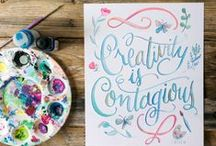 Creative Inspiration / Beautiful colors + flowing lines + lovely art = creativity sparked.
