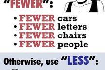 Written Word / Grammar and tips on writing better.