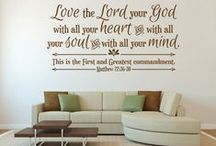Wonderful Christian Decor / The environment you live and work in can have a significant effect on your attitude, choices, and overall well-being. Does your space remind you of what's most important?