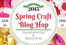 SCBH2015 Mardi Gras & Presidents' Day Crafts / Crafts from the Spring Craft Blog Hop 2015-Mardi Gras and Presidents' Day #SCBH2015