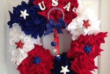 Seasonal: Patriotic  Red, White and Blue / Patriotic Crafts, Decor,  and Activities