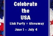 Blogging: Celebrate the USA Link Party / Patriotic Crafts, Party Ideas, DIY Projects, Recipes from Celebrate the USA Link Party Hosted by Across the Blvd / My Husband Has Too Many Hobbies / 2 Crochet Hooks / Olives and Okra / Two Chicks and a Mom / USS Crafty