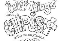 Scripture Coloring Pages / Beautiful coloring pages of Bibles verses for you to enjoy! Some paid, some free, all gorgeous.