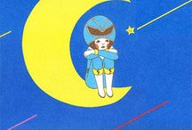 """⧼ the women who live in the moon ⧽ / I'd love to know where the """"woman drinking beer in a crescent moon"""" trope originated from..."""