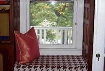 Home Decorating ~ Window Seat Cushions and Draperies / by Darci Brown