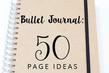 DIY projects - Bullet Journal / A board full of ideas for your #bullet #journal #bujo like daily, weekly, monthly spreads, layouts, trackers etc. Also a collection of stationary like pens, notebooks, stickers and other cute stuff.