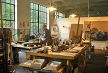 Studio's / I want to have a studio again! Its time to start dreaming about what I'd love to have in a creative space. / by Lynn Cage