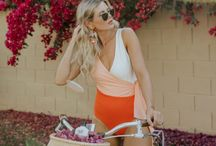 Stylish Swimsuits for Moms / A collection of swimsuit ideas for moms that can help hide a little bit, but be swimsuit stylish and fashionable.