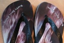 Personalized Flip Flops / Have you a special event, anniversary, party or just want to have a cool personalised slippers?  It is possible by vieirasslippers.com check it out.