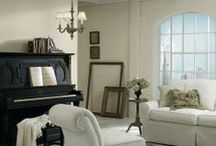 Winter Whites / Light neutrals keep your home bright and cheery all year long.