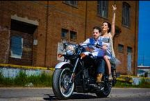 Motor Bikes + People / Couple + Motorbike + Denim + Leather + Boots