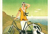 """The Ladies - Bicycle Posters / In the 1890's as the Victorian Age was coming to a close the bicycle was becoming a major social force in society.  Posters advertising bicycle brands featured women with bicycles more than any other subject.  This is because the manufacturers were targeting freedom to women.  For the first time a woman could go where she wanted, when she wanted.  Susan B Anthony called the bicycle a """"freedom machine"""" and was a strong proponent of the bicycle.  Please enjoy these great posters from a time past."""