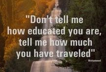 Travel Quotes - Inspiration / We always need inspiration to get up and travel the world. Here's some inspiration for us all! Pin any travel quotes that inspire you to travel the world!