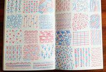 Sketchbook / travel sketchbooks, plannings, bullet journals, diaries, handwriting