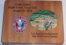 Eagle Scout Memory Boxes / Hand painted memory boxes.