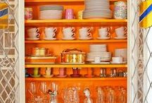 The Color of August/ Orange / The boost of orange in interiors, fashion, food, or nature is always pleasing