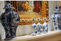 Blue and White interiors / Pam Kelley Designs.