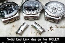 Nato End Piece for Rolex / Solid NATO End Link tailor-made for Rolex models such as, GMT, Submariner, Explorer, Daytona, 2 options available (Brushed or Polished)