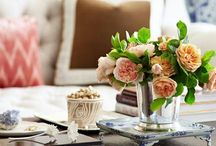 Coffee table decor / Tablescapes and pleasing style