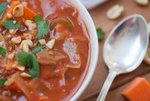 Low-fat GF Vegan Soups/Stews / Low-fat, gluten-free, vegan soup and stew recipes. Deliciously easy recipes that will keep you in your skinny jeans!