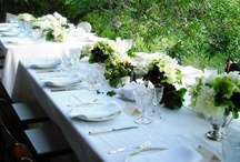 Tabletop: Serving Tables / Whether formal or casual the serving table is like a different work of art each time. I love seeing all of these different ideas!