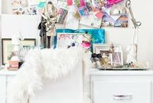 office spaces / as a graphic designer, you need a place to create! / by Caitlyn Albert