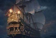 . ☠ Hoist Our Colors ☠ . / . • Pirates, bateaux, drapeaux • .