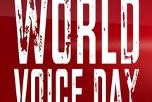 """WORLD VOICE DAY 2013 / Am 16. April 2013 findet der WORLD VOICE DAY (Weltstimmtag) statt! An diesem Tag wird die menschliche Stimme weltweit Thema sein und es werden hierzu in vielen Ländern Veranstaltungen stattfinden. Werde Teil von """"VOICES around the WORLD""""! Filme Dich und Deine Freunde und werde Teil des Projektes und der Band: """"VOICES around the WORLD""""! Werde Darsteller in diesem einmaligen Videoclip, der am 16.04 veröffentlicht wird! Hier kannst Du teilnehmen: http://blog.powervoice.de/world-voice-day-2013"""