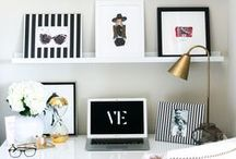 Werk Space / Personal & professional desk inspiration.