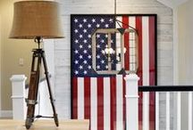 American Flag Decor for the Home / Get inspired to decorate your home this 4th of july with some of these ideas.