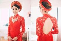 Ao Dai/ Vietnamese Traditional Bridal Dress