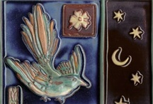 Bird & Nest Ceramic Relief Tiles / A gallery of handmade relief ceramic tiles that evoke the graceful nature of birds and their nests.