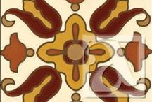 Malibu Ceramic Tile / This line of hand-painted tiles pays homage to the Malibu and Catalina Potteries of California of the 1920s with classic patterns and colorways. These tiles are created using the cuerda seca technique that produces deep, rich colors from the pooled glazes. These tiles are suitable for all indoor applications including walls and floors. Although they are suitable for outdoor locations, they can't be used in frosty environments.