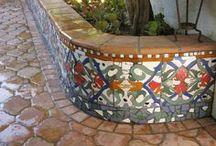 Arabesque Cement Tile Pavers / Arabesque is a unique line of Spanish floor tiles or pavers. The collection pays homage to a deeply rooted and rich heritage of traditional Moorish and Spanish tiles that feature interlaced geometric patterns. Each tile is hand-crafted and exquisitely designed here in the USA. Available in traditional bisque colors as well as softer, contemporary shades, these cement Spanish Floor Tiles, with their nuanced curves and classic shapes, are sure to enhance any setting where they are used. / by Avente Tile